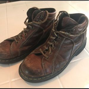 VINTAGE DR MARTENS 9352 BROWN LEATHER BOOTS